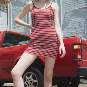 brandy melville red striped kyran dress